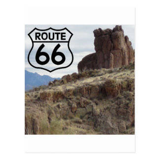 Mesa de la ruta 66 postal