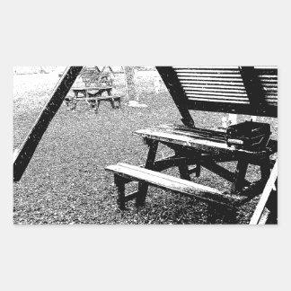 Mesa de picnic de la pluma y de la tinta rectangular altavoces