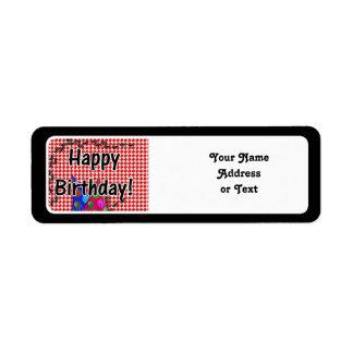 Mesa de picnic w/Ants del feliz cumpleaños Etiquetas De Remite
