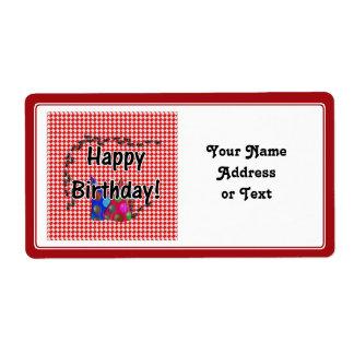 Mesa de picnic w/Ants del feliz cumpleaños Etiqueta De Envío