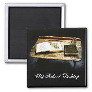 Mesa del vintage - escritorio del estudiante imán de nevera