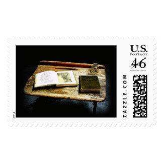 Mesa del vintage - escritorio del estudiante sello