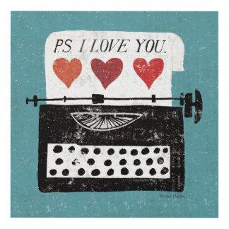 Mesa del vintage - máquina de escribir cuadro