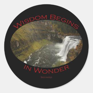 Mesa Falls Classic Round Sticker
