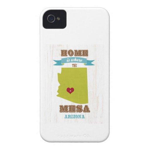 Mesa, mapa de Arizona - casero es donde está el iPhone 4 Cárcasa
