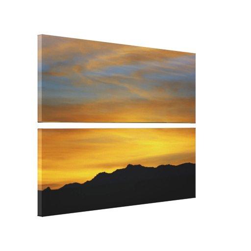 """Mesa Sunset"" Desert Photography Canvas Print"