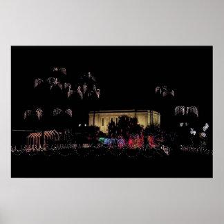 Mesa temple christmas lights poster