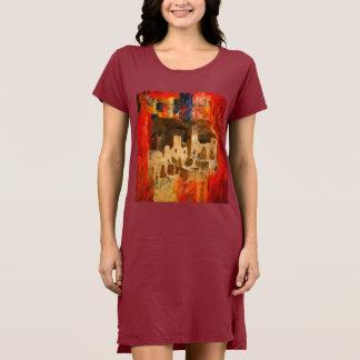 Mesa Verde Adobe Cliffs Southwest T-Shirt Dress