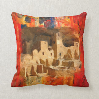 Mesa Verde Adobe Cliffs Southwestern Square Pillow