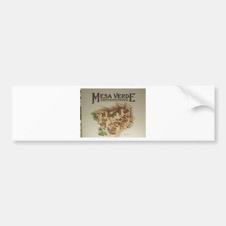 Mesa Verde Anasazi  Dwellings Car Bumper Sticker