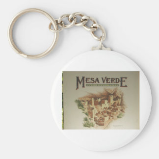 Mesa Verde Anasazi  Dwellings Keychain