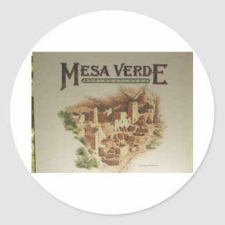 Mesa Verde Anasazi  Dwellings Round Sticker