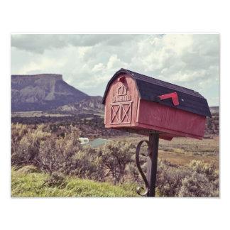 Mesa Verde and US Mail Box Photo Print