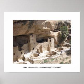 Mesa Verde Indian Cliff Dwellings Poster
