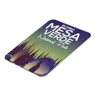 Mesa Verde National Park Camping travel poster Magnet