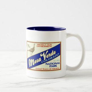 Mesa Verde National Park (Wild Turkey) Two-Tone Coffee Mug