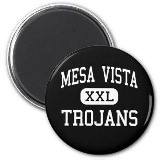Mesa Vista - Trojans - High - Ojo Caliente 2 Inch Round Magnet