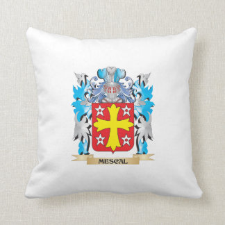 Mescal Coat of Arms - Family Crest Throw Pillow