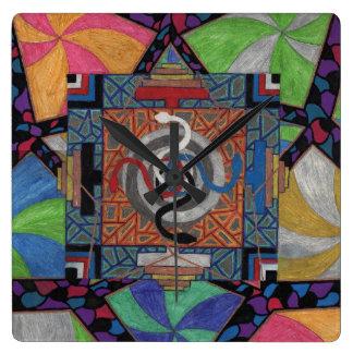 mescal serpent star square wallclock