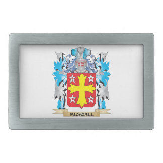 Mescall Coat of Arms - Family Crest Rectangular Belt Buckle