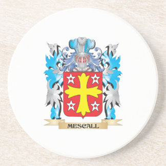 Mescall Coat of Arms - Family Crest Drink Coaster