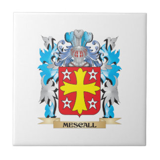 Mescall Coat of Arms - Family Crest Ceramic Tile