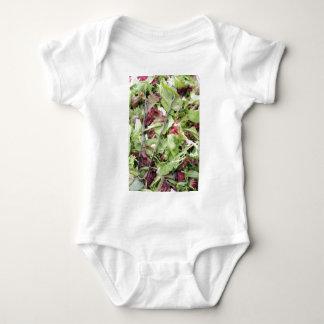 Mesclun salad mix with tongs baby bodysuit