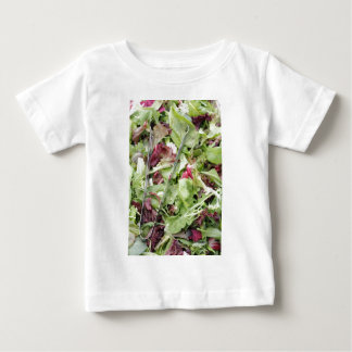 Mesclun salad mix with tongs baby T-Shirt