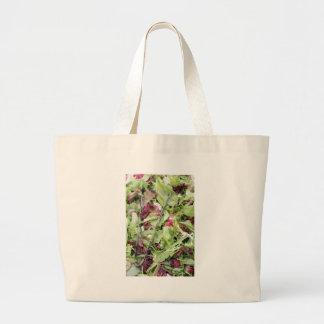Mesclun salad mix with tongs large tote bag