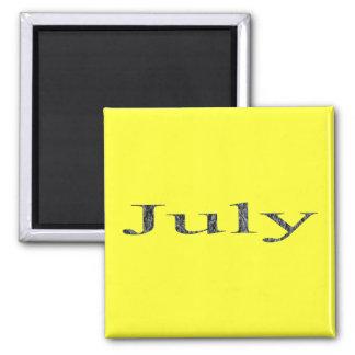 Meses del año - julio imán de frigorifico