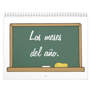 Meses en calendario español
