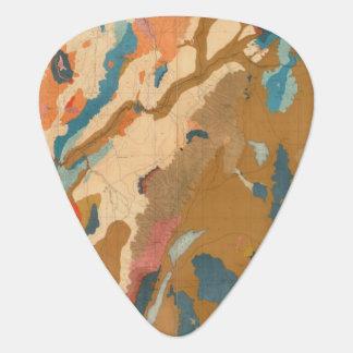 Meseta de Nevada geológica Púa De Guitarra
