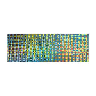 Mesh color extravaganza canvas print