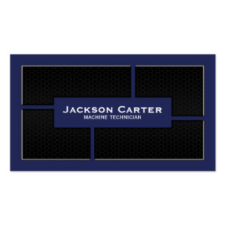 Mesh Cutout Corners - Blue Double-Sided Standard Business Cards (Pack Of 100)