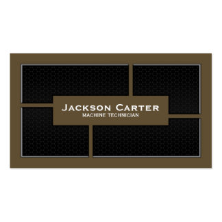 Mesh Cutout Corners - Brown Double-Sided Standard Business Cards (Pack Of 100)