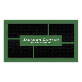 Mesh Cutout Corners - Green Double-Sided Standard Business Cards (Pack Of 100)