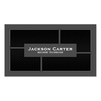 Mesh Cutout Corners - Grey Double-Sided Standard Business Cards (Pack Of 100)