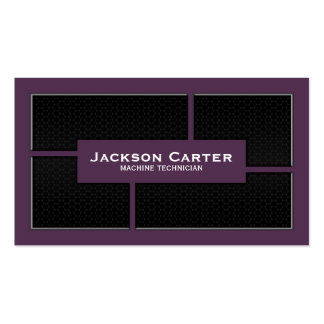 Mesh Cutout Corners - Purple Double-Sided Standard Business Cards (Pack Of 100)