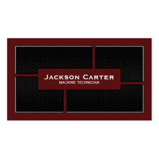 Mesh Cutout Corners - Red Double-Sided Standard Business Cards (Pack Of 100)