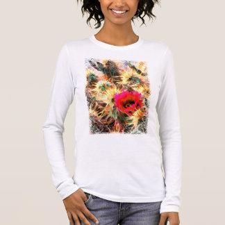 Mesh of Cactus Needles Long Sleeve T-Shirt