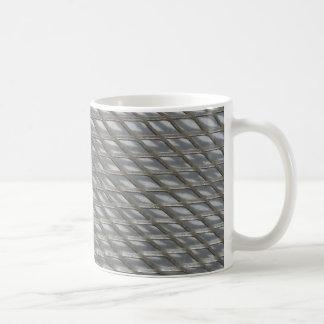 Mesh panel coffee mug