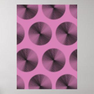 Mesh Pattern black pink Poster