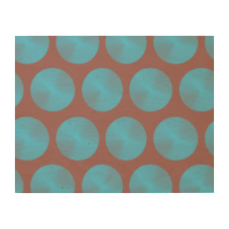 Mesh Pattern mute red and blue Wood Wall Art