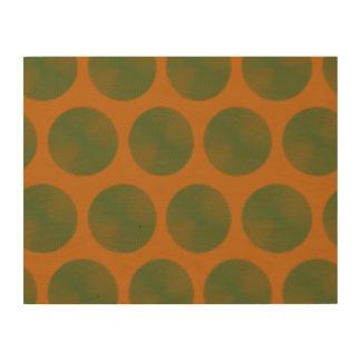 Mesh Pattern orange green Wood Wall Art