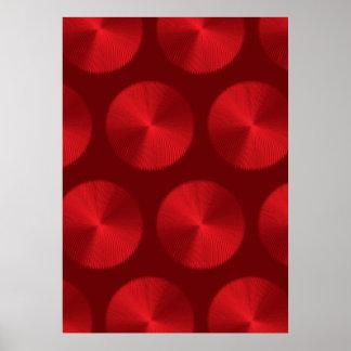 Mesh Pattern Reds Poster