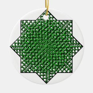Mesh Star Ceramic Ornament