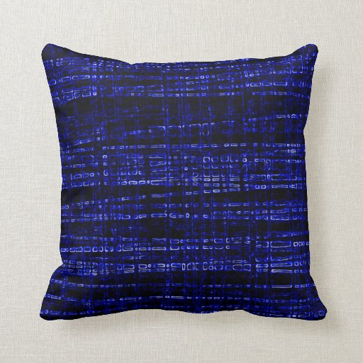 Mesh Weave Abstract blue Pillow