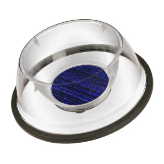 Mesh Weave Abstract blue Pet Bowl