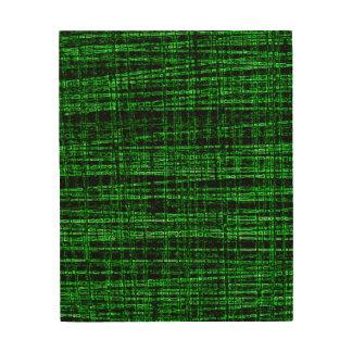 Mesh Weave Abstract green Wood Wall Art