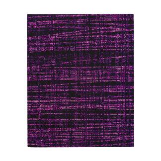 Mesh Weave Abstract purple Wood Wall Art